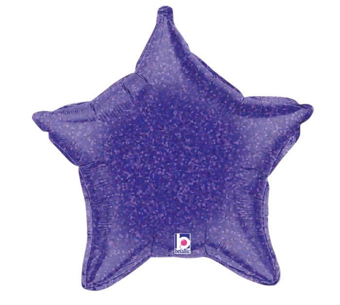 "21"" HOLO PURPLE STAR"