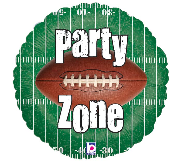 """18"""" PACKAGED """"PARTY ZONE"""" FOOTBALL FIELD"""