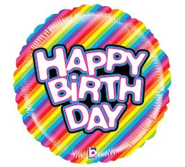 """21"""" PKG MIGHTY BRIGHT HAPPY BIRTHDAY"""