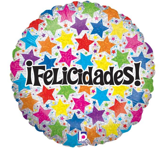 "18""PKG SPANISH HAPPY BIRTHDAY BALLOON"