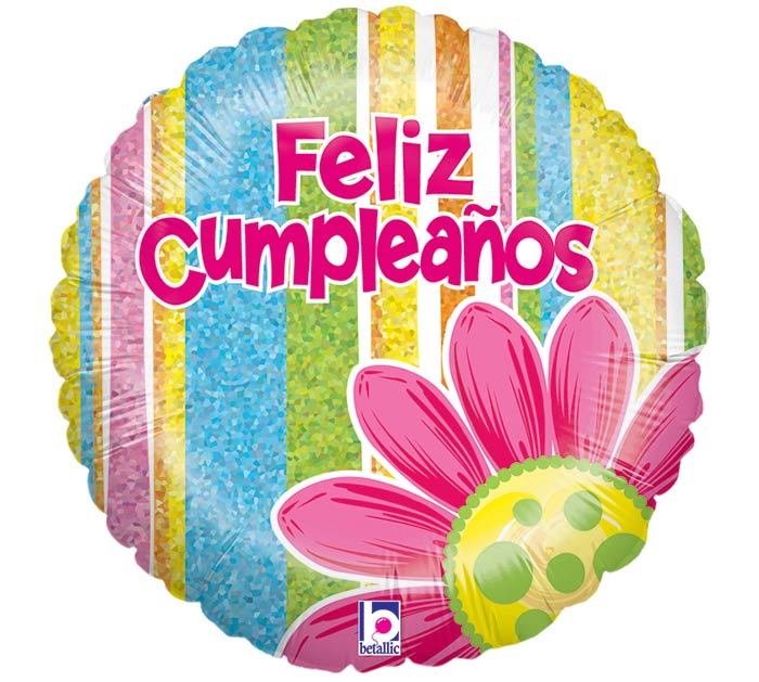 "18""PKG SPANISH HAPPY BIRTHDAY BALLOON"