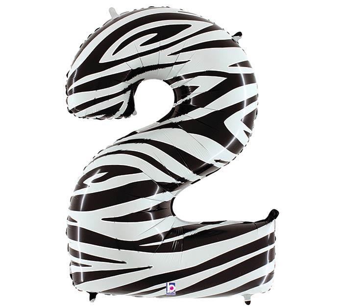 """34"""" NUMBER 2 ZEBRA MEGALOON"""