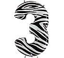 """37"""" NUMBER 3 ZEBRA MEGALOON"""