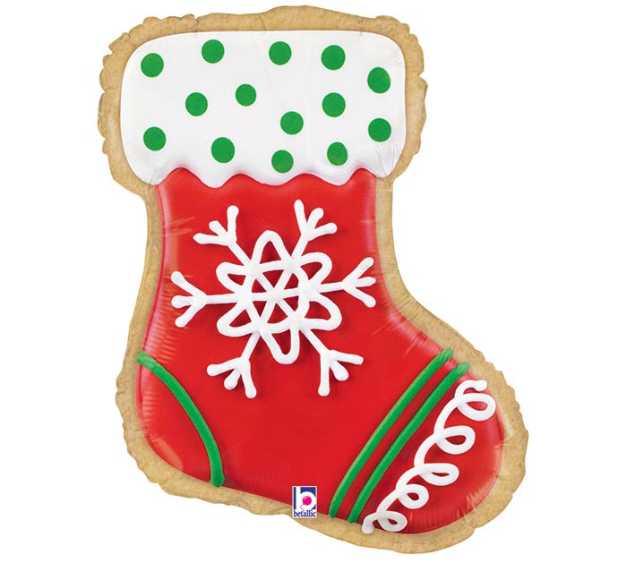 "27"" CHRISTMAS STOCKING COOKIE SHAPE"