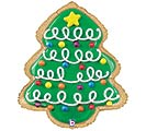 "25"" CHRISTMAS TREE COOKIE SHAPE"