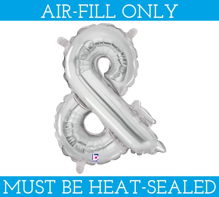 """14"""" SILVER AMPERSAND  AIR FILL ONLY"""