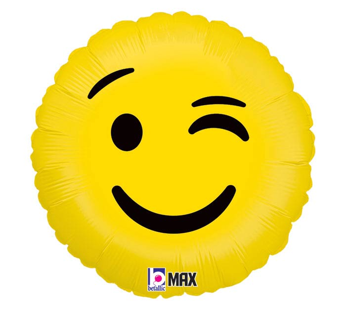 "18""PKG WINK EMOTICONS"