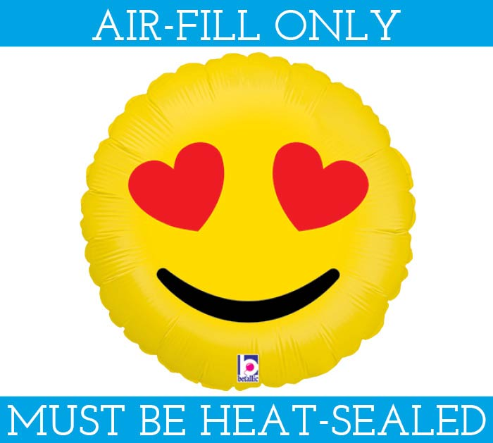 """9""""EMOTICON HEAR EYES MUST FILL WITH AIR"""