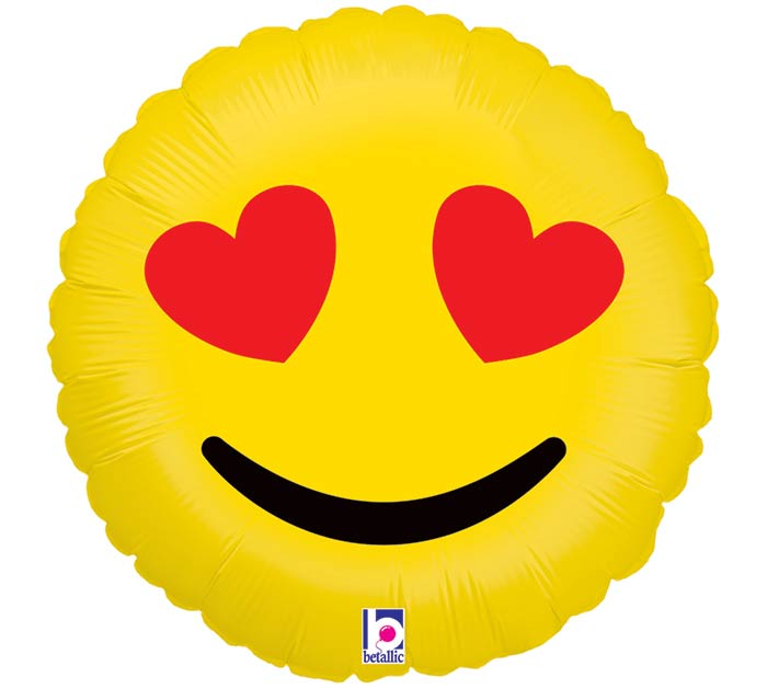 "18""PKG LUV EMOTICONS"