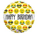 "18""PKG HAPPY BIRTHDAY EMOTICONS"