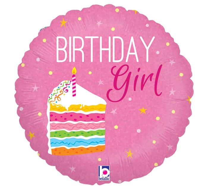 """18""""PKG HBD CAKE GIRL"""