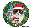 "18"" CHRISTMAS GRUMPY CAT BALLOON"