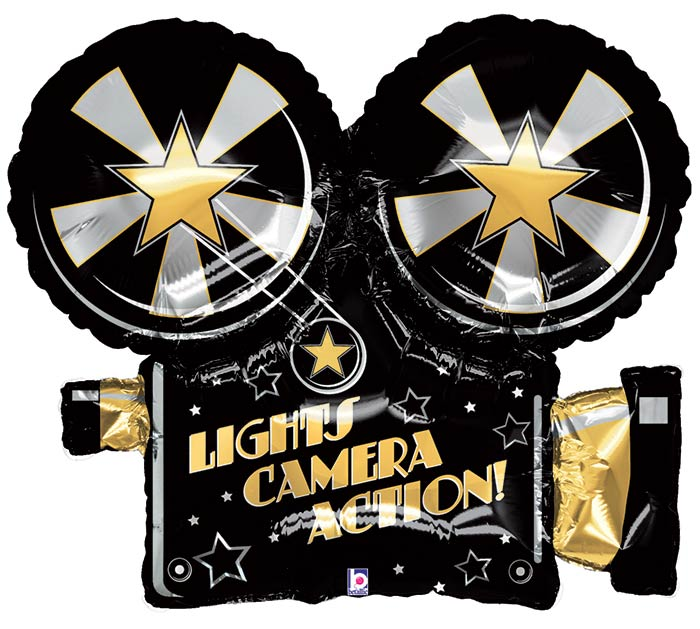"32""PKG LIGHTS CAMERA ACTION CAMERA SHAPE"
