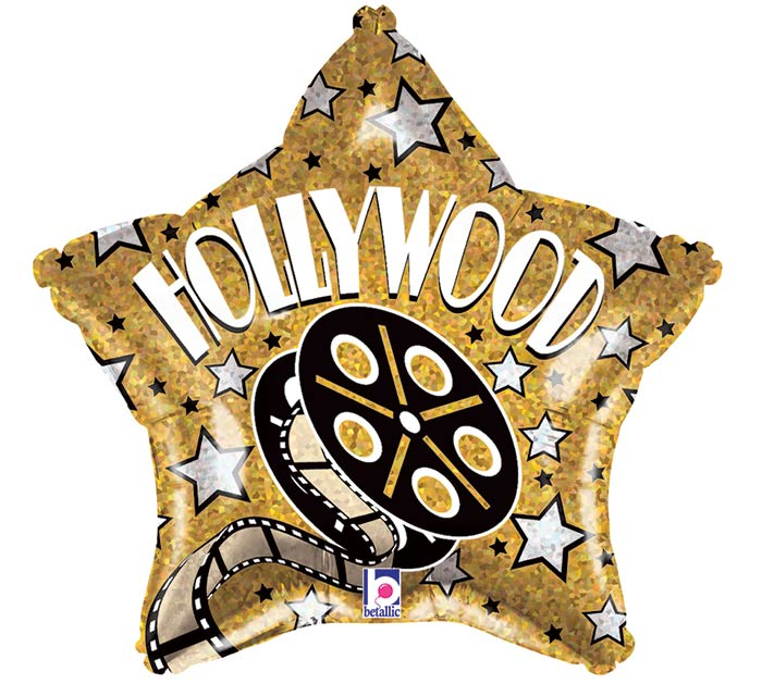 "19""PKG HOLLYWOOD STAR HOLOGRAPHIC"