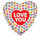 "18""LUV LOVE YOU CONVERSATION HEARTS"