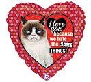 """18""""ILY GRUMPY CAT HEART"""