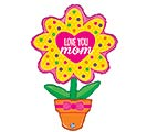 "46""PKG MOM LOVE YOU FLOWER POT"