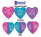 """23""""HMD DIMENSIONALS MOTHER'S DAY HEART"""