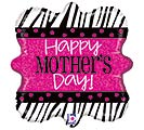 "18""HMD ZEBRA MOTHER'S DAY"