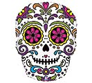 "14""INFLATED HAL SUGAR SKULL MINI SHAPE"
