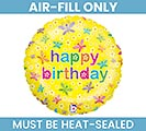 "9"" FLAT HAPPY BIRTHDAY MINI BALLOON"