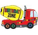 "30"" PKGD BIRTHDAY ZONE TRUCK SHAPE"