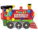 "37"" PKGD BIRTHDAY PARTY TRAIN SHAPE"