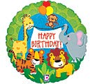 "18""PKG HBD JUNGLE ANIMALS HOLOGRAPHIC"