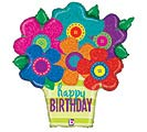 "30""PKG HBD BUTTON FLOWERS HOLOGRAPHIC"