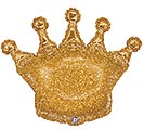 "36"" PKGD GOLD GLITTERING CROWN SHAPE"