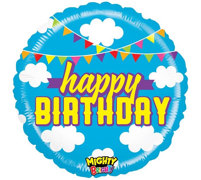"21"" PKG MIGHTY BRIGHT BIRTHDAY CLOUDS"