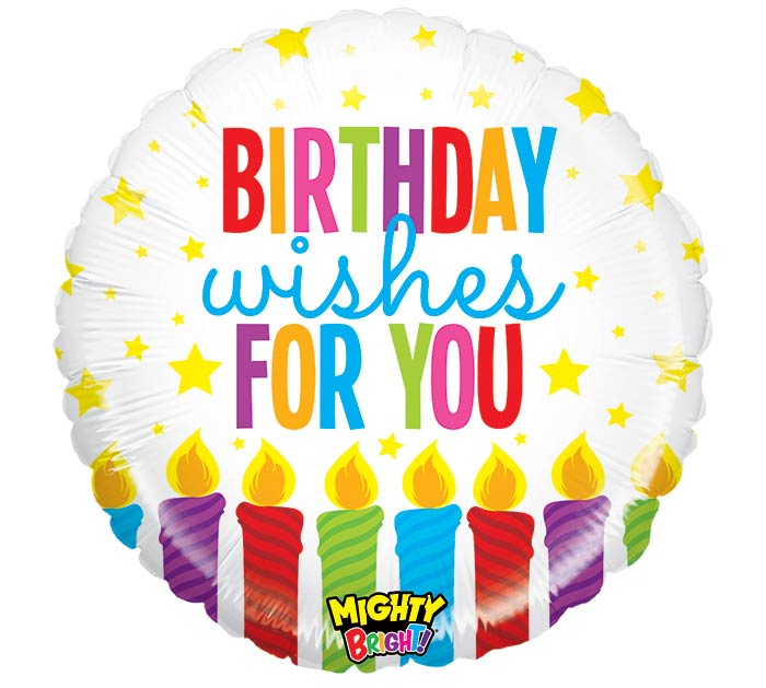 "21"" PKG MIGHTY BRIGHT BIRTHDAY WISHES"