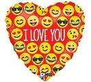"""18""""PKG ILY EMOJI LOVE"""
