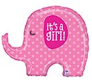 "32""PKG BBY IT'S A GIRL ELEPHANT"