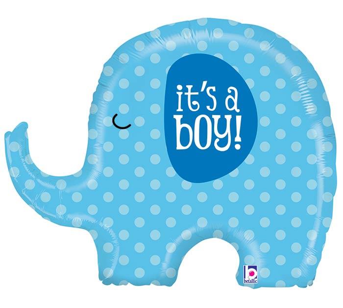 """32""""PKG BBY IT'S A BOY ELEPHANT"""