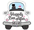 """31"""" PKGD HAPPILY EVER AFTER CAR SHAPE"""