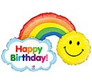 "14""INFLATED HBD RAINBOW"