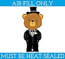 """14""""FLAT WED GROOM BEAR"""