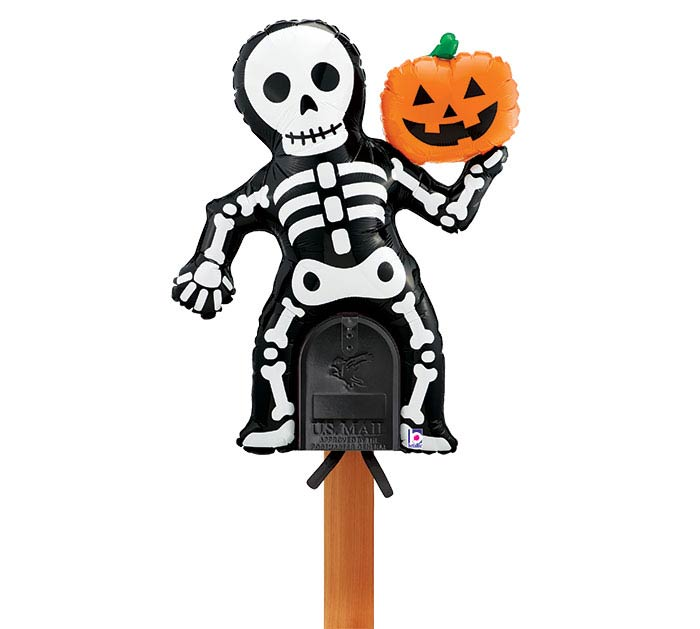 "38""PKG MAILBOX HALLOWEEN SKELETON"