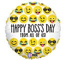 "18""BOS EMOJI BOSS'S DAY"