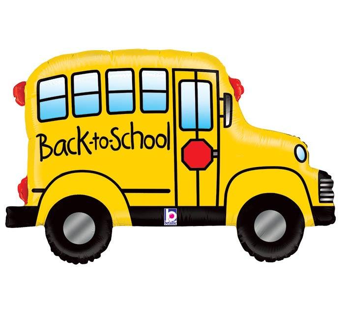 """32""""SCH BACK TO SCHOOL BUS SHAPE"""