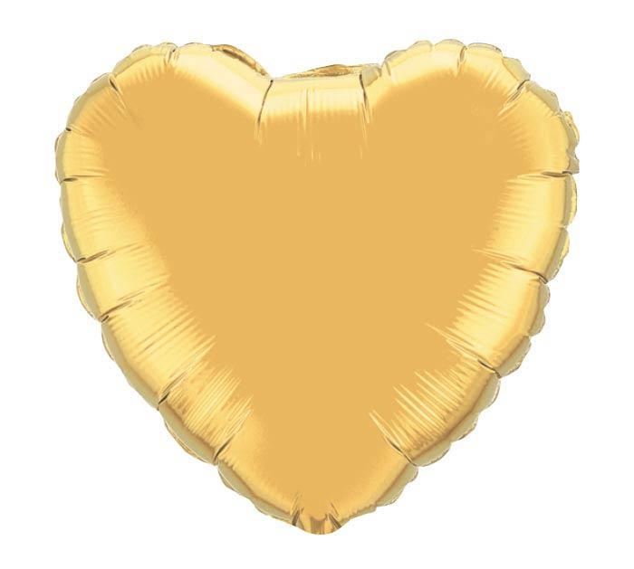 """18""""MET GOLD HEART"""