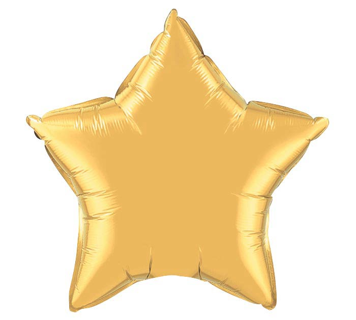 "20"" METALLIC GOLD STAR SHAPE"