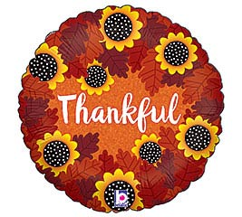 "18""THG THANKFUL SUNFLOWERS HOLOGRAPHIC"