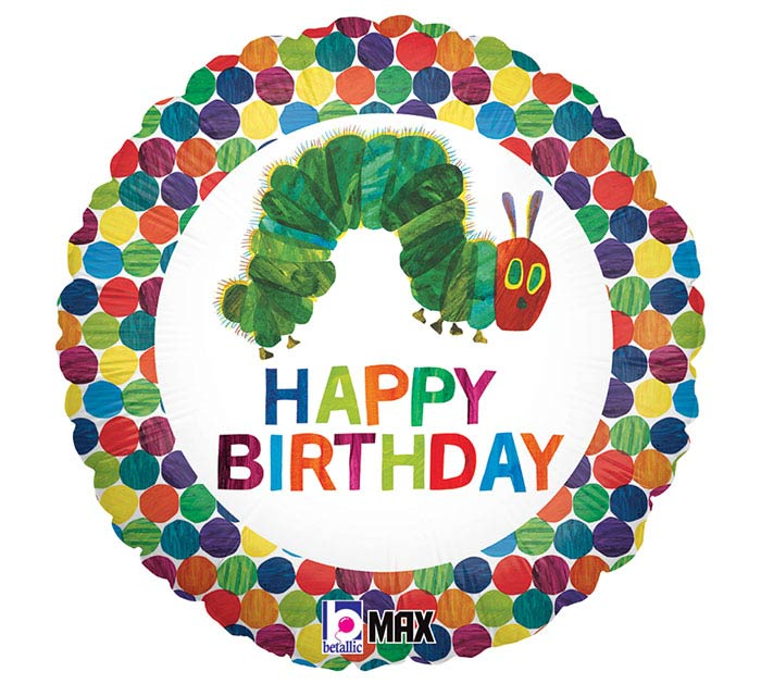 "18""PKG HBD VERY HUNGRY CATERPILLAR"