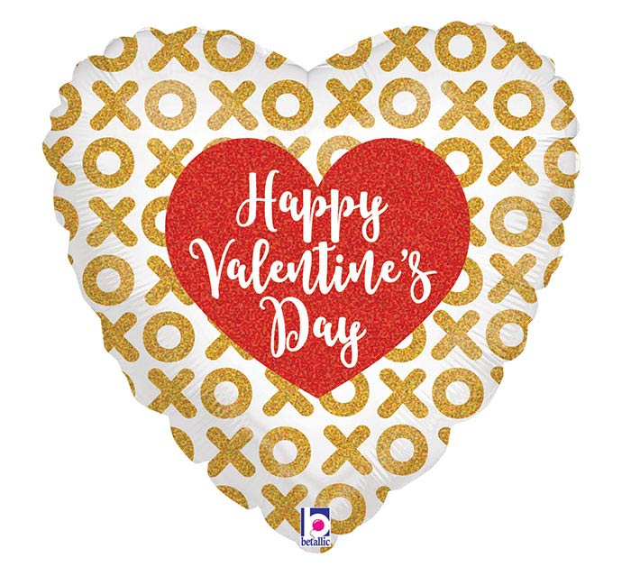 """18""""HVD GLITTERING VALENTINE X'S AND O'S"""