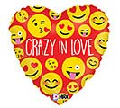 "18""LUV CRAZY IN LOVE EMOTICONS"