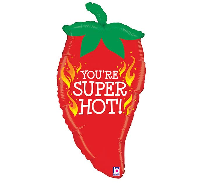 "32""PKG YOU'RE SUPER HOT PEPPER BALLOON"