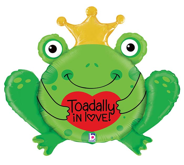 "29""PKG TOADALLY IN LOVE BALLOON"