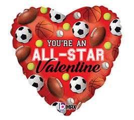 "18""VAL YOU'RE AN ALL-STAR VALENTINE"